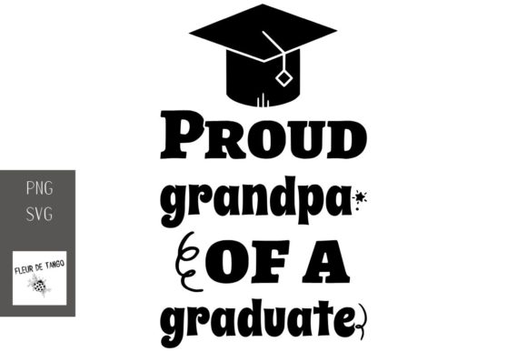 Print on Demand: Proud Grandpa of a Graduate Graphic Print Templates By Fleur de Tango