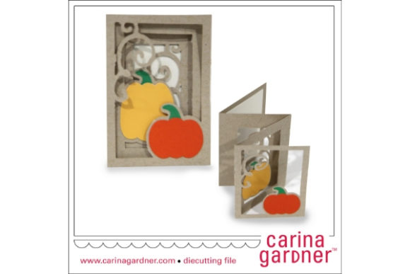 Pumpkin Patch Accordion Card Graphic 3D SVG By carina2