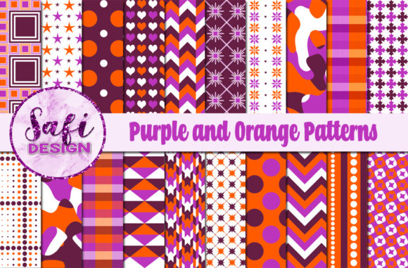 Download Free Purple Orange Digital Paper Background Graphic By Safi Designs for Cricut Explore, Silhouette and other cutting machines.