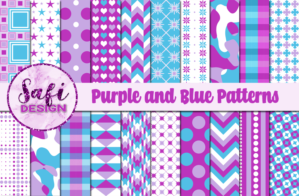 Download Free Purple And Blue Digital Paper Background Graphic By Safi Designs SVG Cut Files