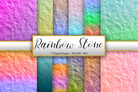 Rainbow Stone Texture Background Graphic Backgrounds By PinkPearly
