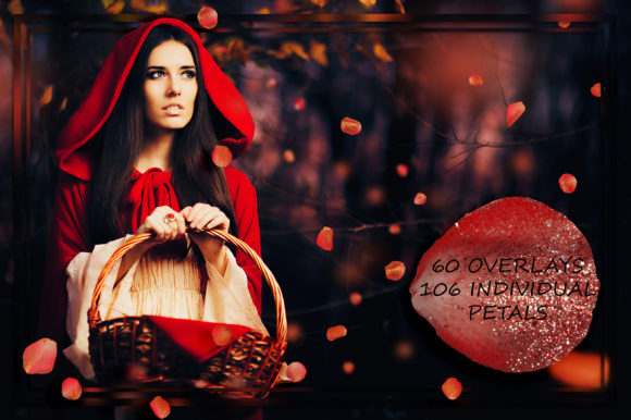 Download Free Red Silver Sparkly Petals Overlays Graphic By Faerydesign SVG Cut Files