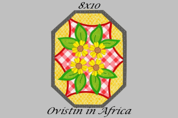 Red & Yellow Floral Applique Placemat Sewing & Crafts Embroidery Design By Ovistin in Africa