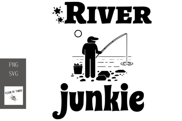 Download Free River Junkie Graphic By Fleur De Tango Creative Fabrica for Cricut Explore, Silhouette and other cutting machines.