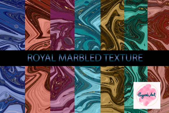Royal Agate Marbled Fluid Texture Graphic Textures By sugamiart