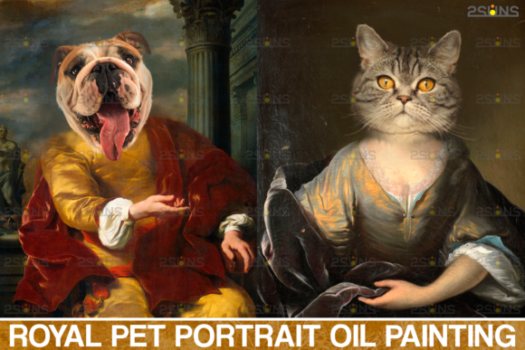 Royal Pet Portrait Templates Photoshop Grafik Aktionen & Voreinstellungen von 2SUNS