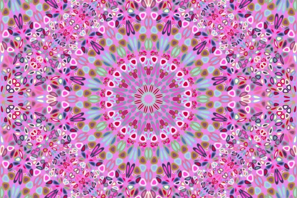 Download Free Seamless Floral Mandala Pattern Graphic By Davidzydd Creative for Cricut Explore, Silhouette and other cutting machines.