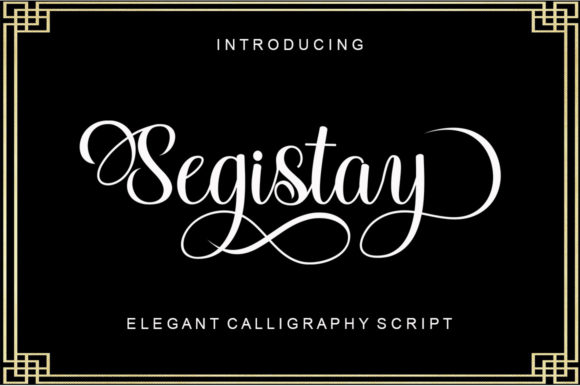 Print on Demand: Segistay Script & Handwritten Font By Viewtype