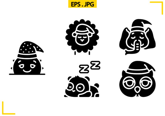 Sleepy Time Solid Graphic Icons By raraden655