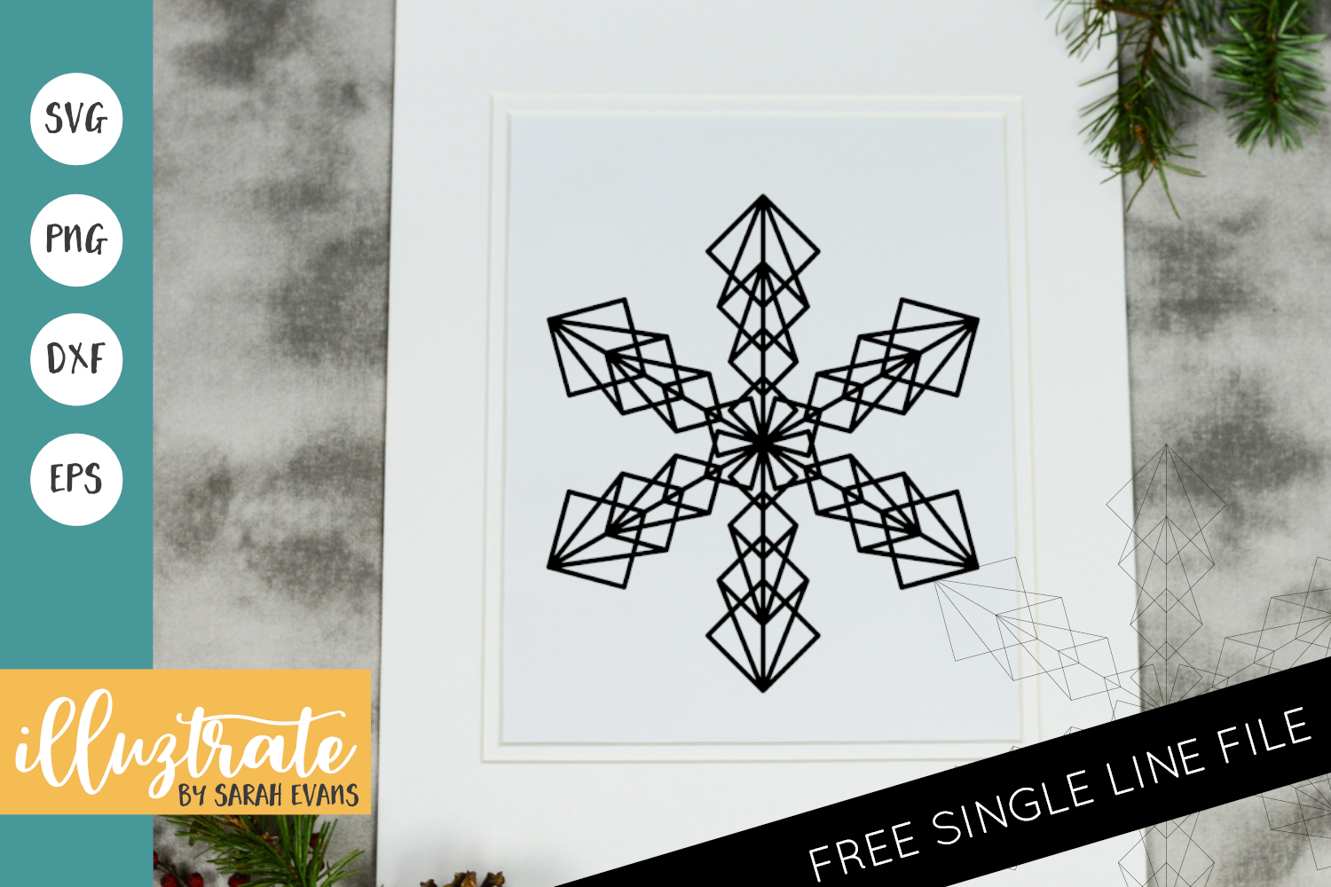 Download Free Snow Flake Mandala Cut File Graphic By Illuztrate Creative Fabrica for Cricut Explore, Silhouette and other cutting machines.