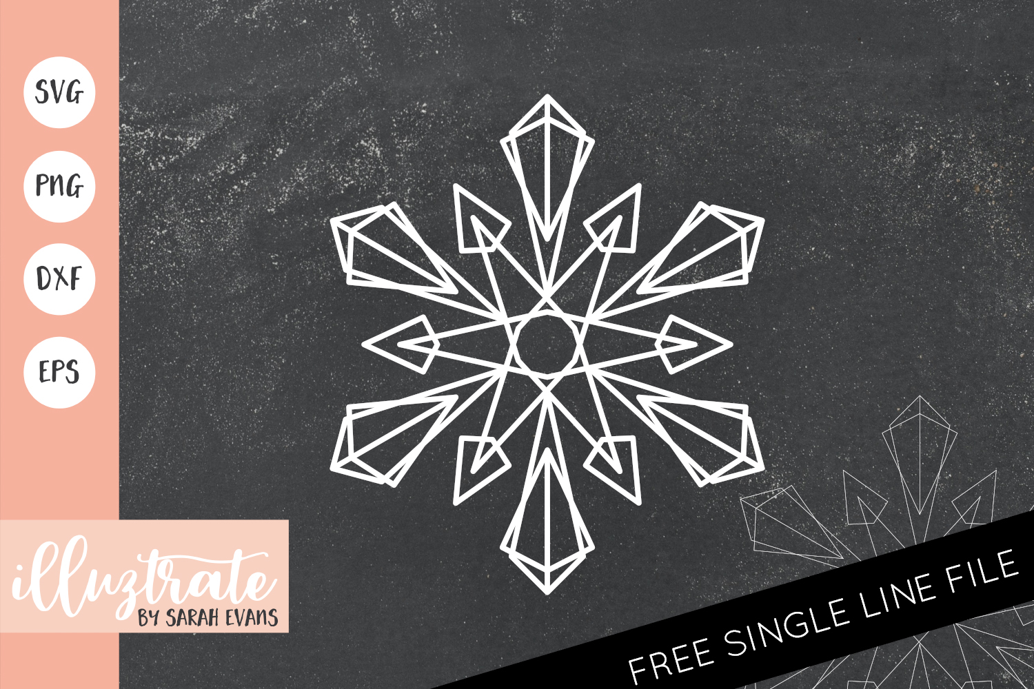 Download Free Snowflake Mandala Cut File Graphic By Illuztrate Creative Fabrica for Cricut Explore, Silhouette and other cutting machines.