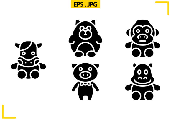 Soft Toys Solid Graphic Icons By raraden655