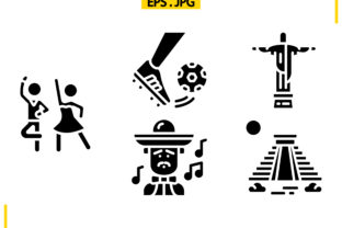 South America Solid Graphic Icons By raraden655