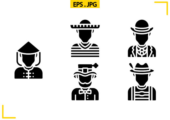 Stereotypes Solid Graphic Icons By raraden655