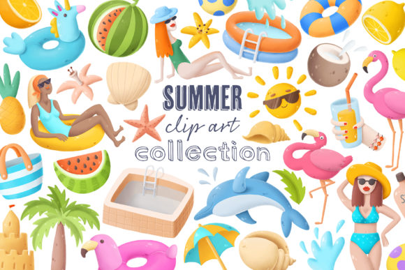 Print on Demand: Summer Clip Art Collection Graphic Illustrations By Architekt_AT