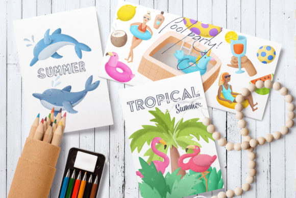 Print on Demand: Summer Clip Art Collection Graphic Illustrations By Architekt_AT - Image 2