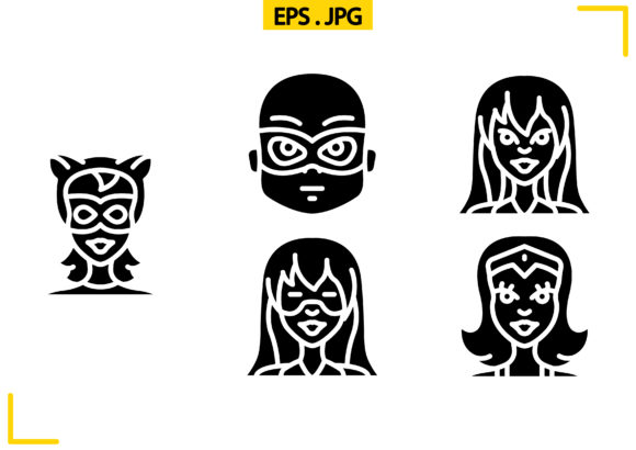 Super Heroes Solid Graphic Icons By raraden655