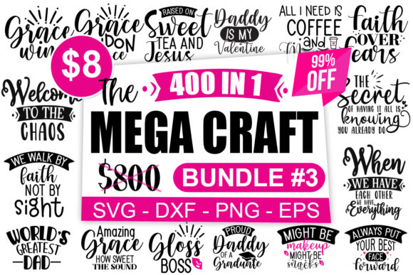 Print on Demand: The Mega Craft Bundle Vol #3  By Designdealy.com