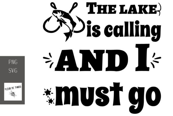 Print on Demand: The Lake is Calling and I Must Go Graphic Print Templates By Fleur de Tango