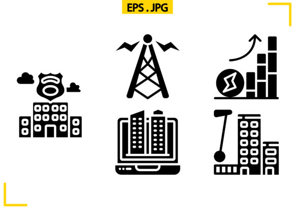 Town Planning Solid Graphic Icons By raraden655