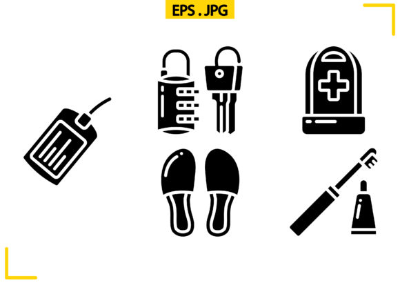 Travel Accessories Solid Graphic Icons By raraden655