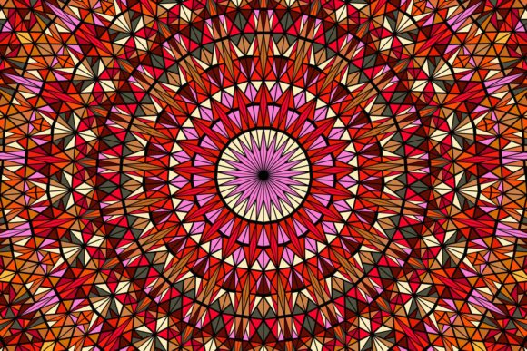 Download Free Triangle Mosaic Mandala Background Graphic By Davidzydd for Cricut Explore, Silhouette and other cutting machines.