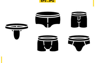 Underwear Solid Graphic Icons By raraden655