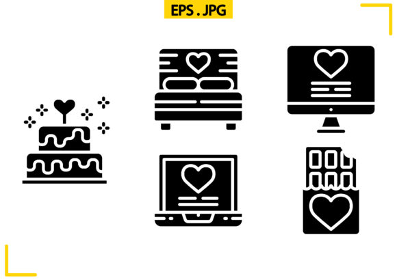 Valentines Day Solid Graphic Icons By raraden655