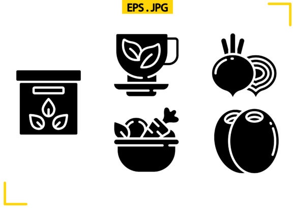 Vegan Solid Graphic Icons By raraden655