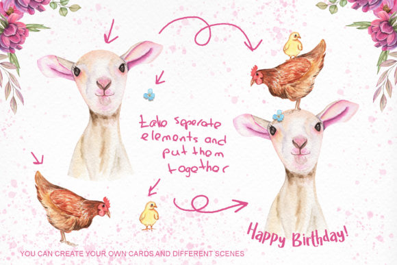 Download Free Watercolor Day With Little Lambs Graphic By Tanatadesign for Cricut Explore, Silhouette and other cutting machines.