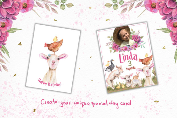 Print on Demand: Watercolor Day with Little Lambs Graphic Illustrations By tanatadesign - Image 9