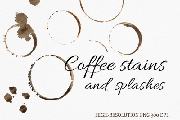 Download Free Watercolor Coffee Stains And Splashes Graphic By Reddotshouse for Cricut Explore, Silhouette and other cutting machines.