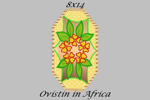 Yellow Floral Applique Placemat Sewing & Crafts Embroidery Design By Ovistin in Africa - Image 1