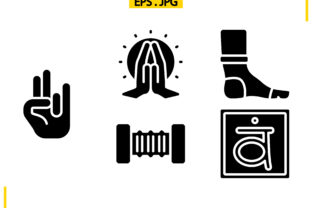 Yoga Solid Graphic Icons By raraden655