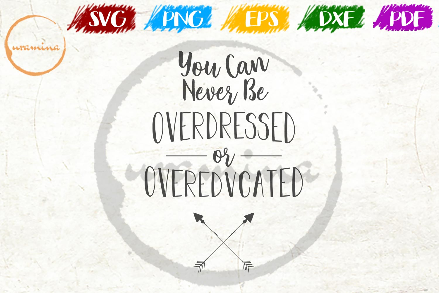 Download Free You Can Never Be Overdressed Graphic By Uramina Creative Fabrica for Cricut Explore, Silhouette and other cutting machines.