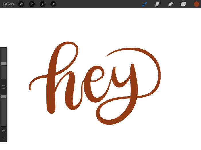 how to draw 3D lettering on Procreate