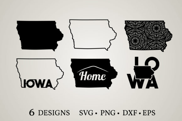 Download Free Iowa State Graphic By Euphoria Design Creative Fabrica for Cricut Explore, Silhouette and other cutting machines.