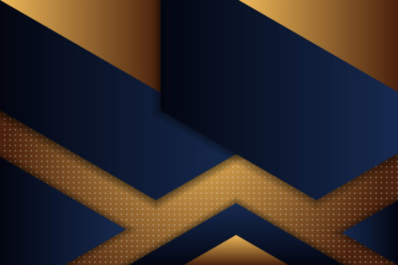 Print on Demand: Triangle Blue Dark Gold Background Graphic Backgrounds By noory.shopper