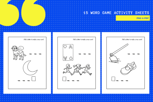 Print on Demand: 15 Fun Letter & Word Game Worksheets Graphic Teaching Materials By yumbeehomeschool - Image 2