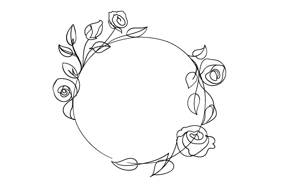 Download Free Dainty Round Floral Frame Svg Cut File By Creative Fabrica SVG Cut Files