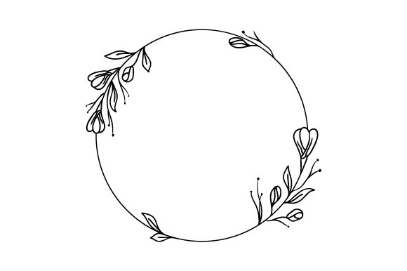 Dainty Round Floral Frame Designs & Drawings Craft Cut File By Creative Fabrica Crafts