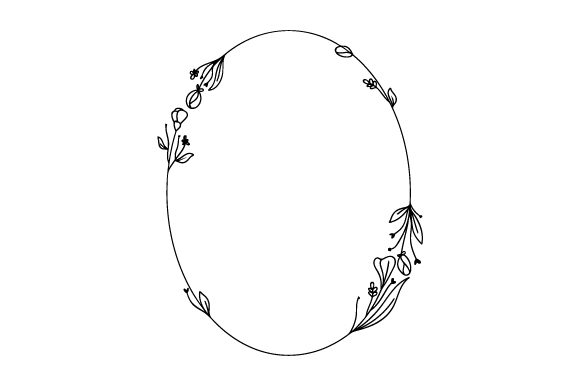 Dainty Oval Floral Frame Designs & Drawings Craft Cut File By Creative Fabrica Crafts