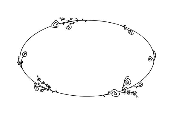 Dainty Oval Floral Frame Designs & Drawings Craft Cut File By Creative Fabrica Crafts - Image 1