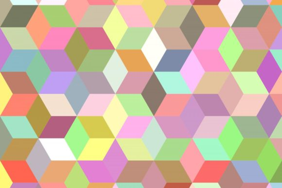 Download Free 3d Cube Pattern Background Graphic By Davidzydd Creative Fabrica SVG Cut Files