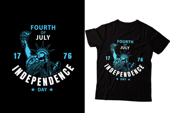 4th July Indepence Day T-shirt Graphic Print Templates By Storm Brain
