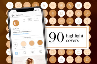 90 Instagram Story Highlight Covers Gold Graphic Web Elements By CreativePanda