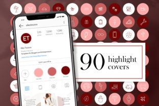90 Instagram Story Highlight Covers Graphic Web Elements By CreativePanda