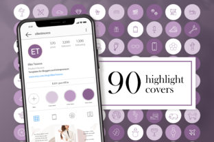 90 Instagram Story Highlight Covers Graphic Icons By CreativePanda