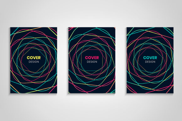 Abstract Colorful Cover Collection Graphic Backgrounds By medelwardi