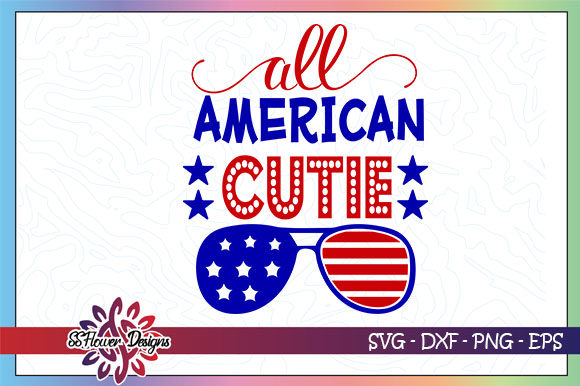 Download Free All American Cutie Sunglasses Graphic By Ssflower Creative Fabrica for Cricut Explore, Silhouette and other cutting machines.
